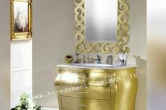 Bagno bombato full oro 3 cassetti - top mineralmarmo
