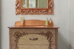 Bagno mod. Tiziano dipinto con dettagli foglia rame