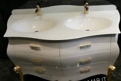 bagno bombato 6 cassetti bianco 2