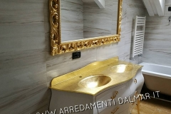 bagno doppia vasca laccato bianco oro 2