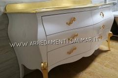 bagno doppia vasca laccato bianco top oro