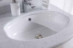 Bagno bombato piccolo cm 80/top marmo carrara