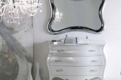 Bagno bombato massello laccato perlato