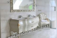 Bagno barocco massello doppio lavabo