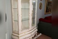 Vetrina sagomata su misura stile Barocco