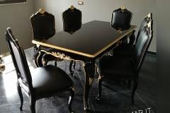 tavolo e sedie nere 1