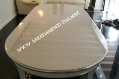 tavolo ovale bianco-argento